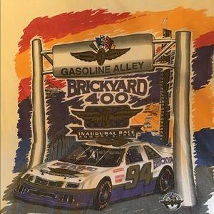 Inaugural Brickyard NASCAR Race Shirt L Indy 500
